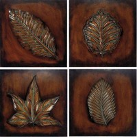 Propac Images Set of 4 Metal Art Leaves - 8048 - All Wall Art - Wall Art & Coverings - Decor