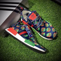 Best Online Sale Gucci x Adidas Consortium  NMD R1 Time And Space Boost Sport Running Shoes Classic Casual Shoes Sneakers