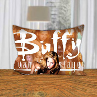 """PillowQ - Buffy The Vampire Slayer - Design for Pillow Cover 18""""x18"""" and 30""""x20"""" - Front Side Print or Full Side Print"""