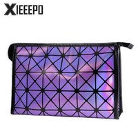 Fashion  Women Travel Make Up Bag Organizer Zipper Cosmetic Bag Storage lighted Makeup Case Functional Pouch Toiletry Wash Bag