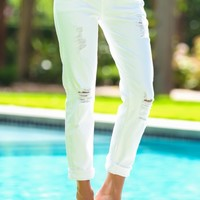 Rugged Runway Boyfriend Jeans-White