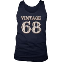 Men's Vintage 68 Tank Top 50th Birthday Gift for 50 Year Old
