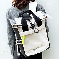 NIKE New fashion hook print couple book bag backpack bag handbag