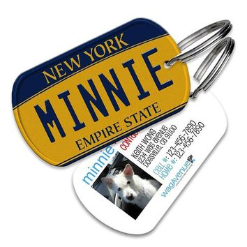 New York License Plate Pet Tag