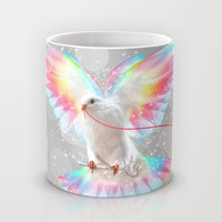 The Key is to Believe in the Impossible (Neon Wings Series III) Mug by soaring anchor designs ⚓