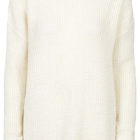 Grungy Lofty Ribbed Sweater - Cream
