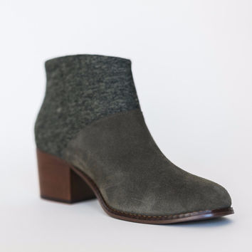 Toms Olive Suede Boot