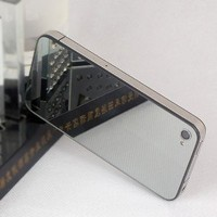 [Aftermarket Product] Full Back Cover Glass Mirror Housing,Back Glass Battery Door, Replacement back housing without Flash Diffuser, Chrome Ring and interior Frame + free screwdriver only For iPhone 4 ATT.(Not Fit Verizon/sprint Iphone 4,Not Fit Iphone 4s)