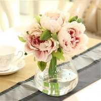 Artificial Peony Flower bouquet, 4 colors