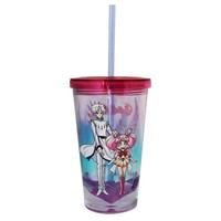 Sailor Moon Figure Season Party Tumbler Travel Mug/Cup With Diamond Base - Novelty Gifts and Games Fan Party Club Toys (Chibi Moon, Helios & Pegasus)