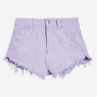 Lilac Denim Shorts | Topshop