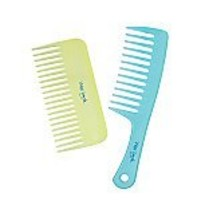 Plugged In Wet Look Shower and Wide Tooth Comb Set