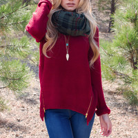 Bridget Sweater - Burgundy
