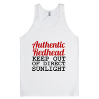 AUTHENTIC REDHEAD KEEP OUT OF DIRECT SUNLIGHT