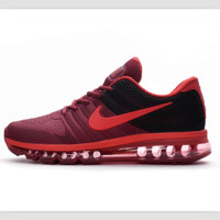 NIKE AIR trend of plastic bottom casual shoes breathable running shoes Burgundy black