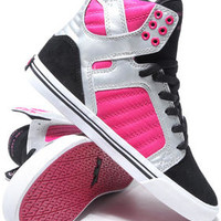 Skytop Black Suede/Silver Leather Sneakers by Supra