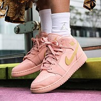 Air Jordan 1 Mid AJ1 high-top men's and women's sneakers shoes