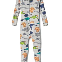 Dino pizza party footed sleep one-piece | Gap