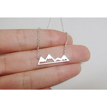Chic Mountain Necklace Silver, Gold & Rose Gold