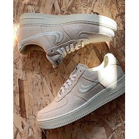 Stussy x Nike Air Force 1 Collaboration Release low-top sneakers shoes