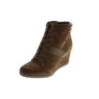 Naturalizer Womens Paitlyn Suede Ankle Wedge Boots