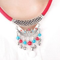 New Arrival Gift Jewelry Shiny Stylish Vintage Metal Tassels Necklace [7316494023]