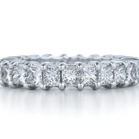 Wedding Band - Princess Diamond Eternity All around Anniversary Ring 1.35 tcw.
