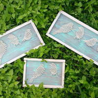 Custom Order String Art Birds on a Wire, Family of Birds Wall Hanigng, Unique and Personalized Rustic Home Decor, Made to Order