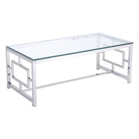 Geranium Coffee Table Stainless Steel Polished Stainless Steel