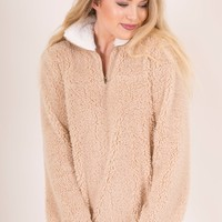 SNOWY WEATHER PULLOVER - TAUPE