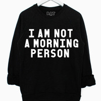Yawn Sweater - Black | BATOKO