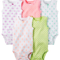 5-Pack Sleeveless Bodysuits