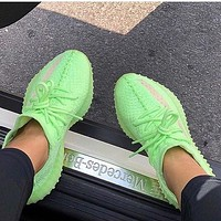 Adidas Yeezy Boost 350 V2 Fluorescent green gym shoes