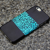 Turquoise Leopard iPhone 6 iPhone 6 plus iPhone 5S 5iPhone 5CiPhone 4S/4 Black Samsung Galaxy S6 edge S6 S5 S4 Note 3 Case Animal Print-09