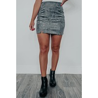 Going With You Skirt: Charcoal
