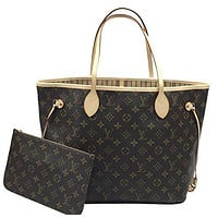 Louis Vuitton Neverfull MM Monogram Beige M40995 Handbag  Louis Vuitton Bag