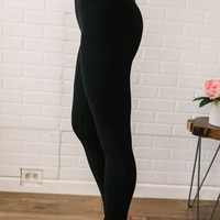 Seamless High Waist Leggings - Black