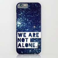 we are not alone - for iphone iPhone & iPod Case by Simone Morana Cyla