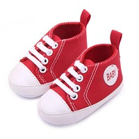2017 Born First Walker Infant Baby Boy Girl Kid Soft Sole Shoes Sneaker Born 0-12 Months New