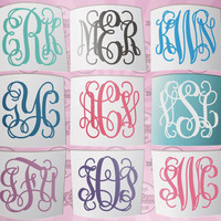 Personalized Monogram Decal. Monogram Sticker. Custom Decal. Car Monogram. Car Decal. Weddings. Party Favors. Wedding Favors. Gift Ideas