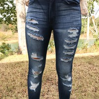 KanCan Chelsea Distressed Ankle Jeans