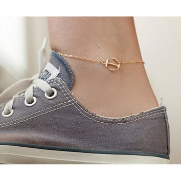 Women Anchor Anklet Foot Bracelets Barefoot S als Anklets Sexy Tin Chain Beach Anklets Jewelry  SM6