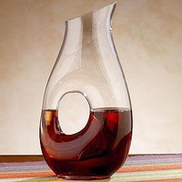 Small Glass Pitcher with Hole