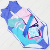 Surfing The Vapor Wave One Piece Swimsuit