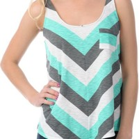 Empyre Girls Loni Chevron Stripe Crop Tank Top