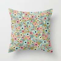 poppyfield. Throw Pillow by Pink Berry Patterns