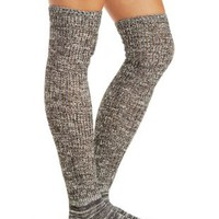 Textured Thigh-High Socks by Charlotte Russe