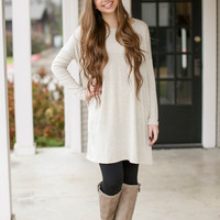 Think Out of the Box Tunic - Oatmeal