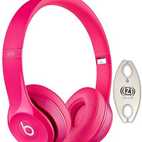 Beats by Dr. Dre Solo 2.0 Pink On-Ear Headphones Carry Pack with Wire Holder