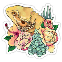 'Pastel Bearded Dragon' Sticker by slothbug